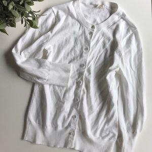 White 3/4 sleeve cardigan